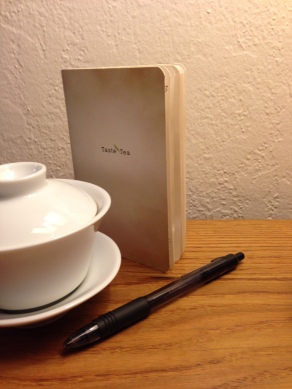 My tea journal and Gaiwan cup