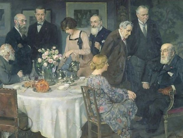A Group of Artists By Jules-Alexandre Grün (1868 - 1934) [Public domain], via Wikimedia Commons